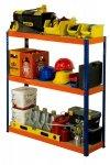 Metallregal Werkstatt Schwerlastregal Helios 090x090x40_3 Böden, Tragkraft bis 400 Kg pro Boden,  Viele Farben zur Auswahl