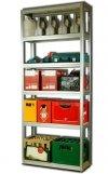 Metallregal Steck-Lager- Schwerlastregal bis 400 kg pro Boden , verzinkt , HZ_213x100x30, 6 Böden