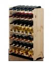 Weinregal für 42 Flaschen RW-3-42 (63x26,5x91), Unbehandelt, Erle, Braun