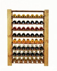 Weinregal für 56 Flaschen, Massiv RW-5-2 (80x30x110), Unbehandelt, Erlen, Braun