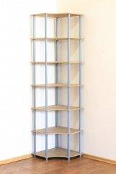Dedal-7W Eckregal 210x56x56  / 7 Böden / 5 Farben zur Auswahl