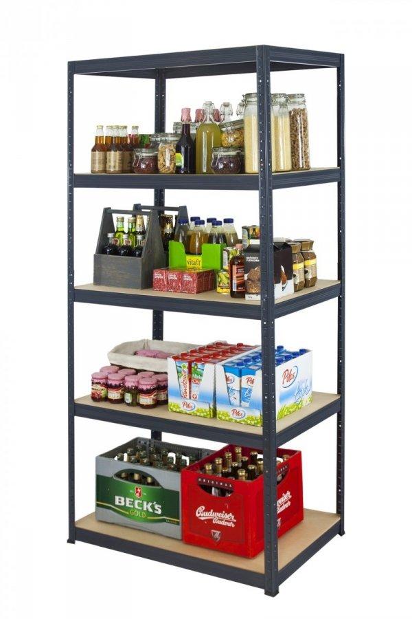 Metallregal Werkstatt Schwerlastregal Helios 213x075x60_5 Böden, Tragkraft bis 400 Kg pro Boden,  Viele Farben zur Auswahl