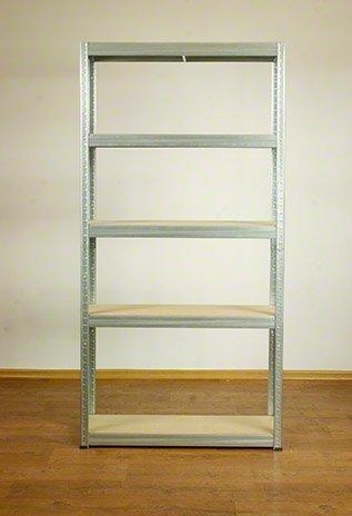 Metallregal Steck-Lager- Schwerlastregal bis 400 kg pro Boden , verzinkt , HZ_180x100x35, 5 Böden