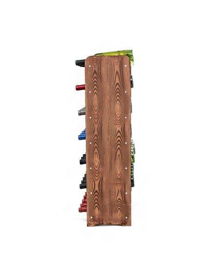 Weinregal Holz 42 Flaschen, RW-16-42, (62,6x26,5x91,4), Dunkelgrau, Ecru, Dunkelgrau Decor, Dunkelbraun Decor