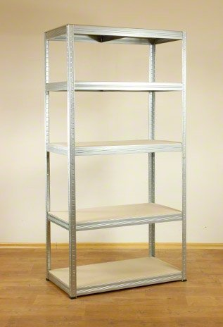 Metallregal Steck-Lager- Schwerlastregal bis 400 kg pro Boden , verzinkt , HZ_180x100x45, 5 Böden