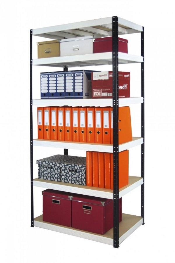 Metallregal Werkstatt Schwerlastregal Helios 213x090x60_6 Böden, Tragkraft bis 400 Kg pro Boden,  Viele Farben zur Auswahl