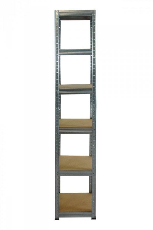 Metallregal Steck-Lager- Schwerlastregal bis 175 kg pro Boden , verzinkt , HZ_213x030x30, 6 Böden, Quadratisch