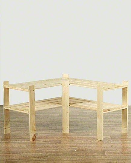Holzregal 2 Böden 50x85x38 cm, B-09, Unbehandelt