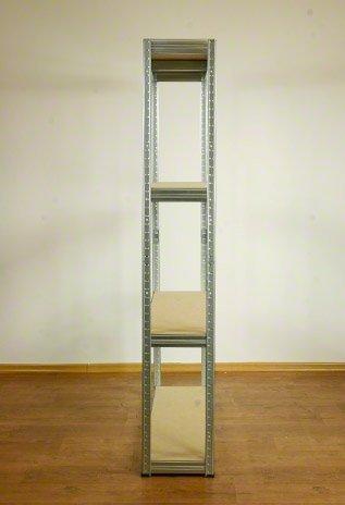 Metallregal Steck-Lager- Schwerlastregal bis 400 kg pro Boden , verzinkt , HZ_180x120x35, 4 Böden