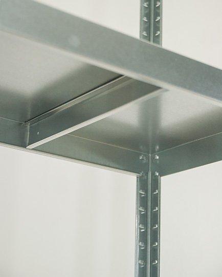 Metallregal ganz aus Metall  Elara  EZ_180x080x40_ 5_120, 5 Böden 120 kg, verzinkt