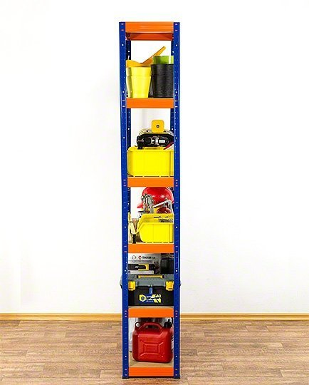 Metallregal Werkstatt Schwerlastregal Helios 213x110x45_6 Böden, Tragkraft bis 400 Kg pro Boden,  Viele Farben zur Auswahl