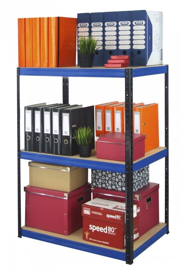 Metallregal Werkstatt Schwerlastregal Helios 090x100x40_3 Böden, Tragkraft bis 400 Kg pro Boden,  Viele Farben zur Auswahl