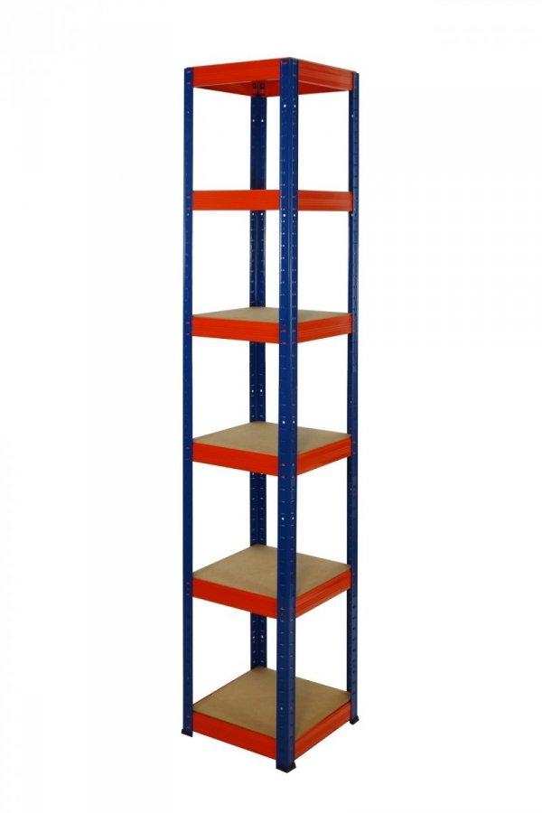Metallregal Werkstatt Schwerlastregal Helios 196x060x60_6 Böden, Tragkraft bis 175 Kg pro Boden,  Viele Farben zur Auswahl, Quadratisch