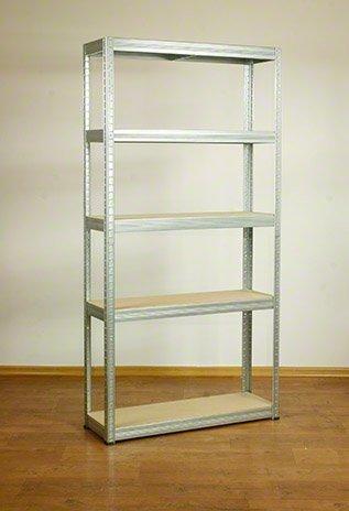 Metallregal Steck-Lager- Schwerlastregal bis 400 kg pro Boden , verzinkt , HZ_180x100x40, 5 Böden