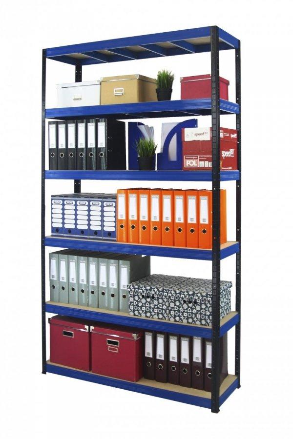 Metallregal Werkstatt Schwerlastregal Helios 196x110x35_6 Böden, Tragkraft bis 400 Kg pro Boden,  Viele Farben zur Auswahl