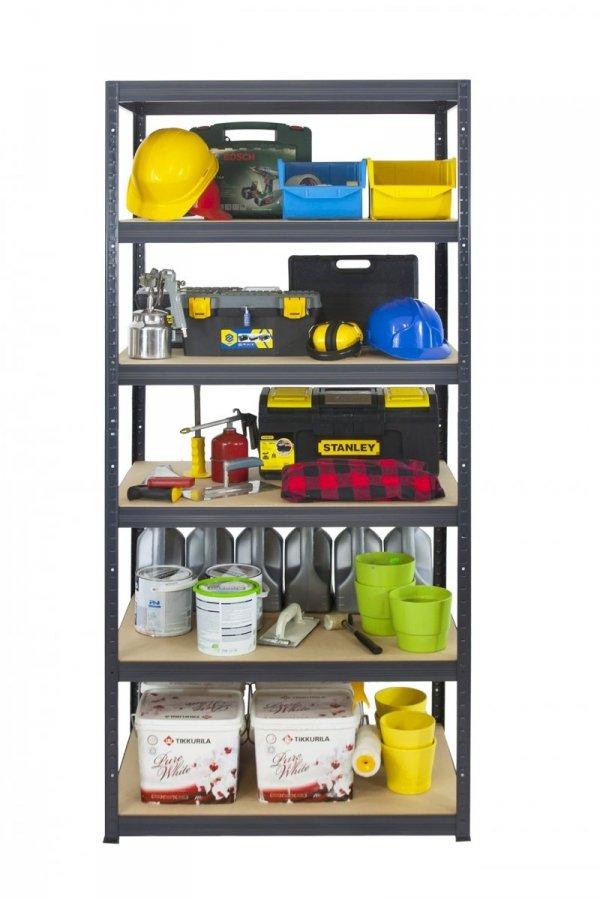 Metallregal Werkstatt Schwerlastregal Helios 213x075x60_6 Böden, Tragkraft bis 400 Kg pro Boden,  Viele Farben zur Auswahl