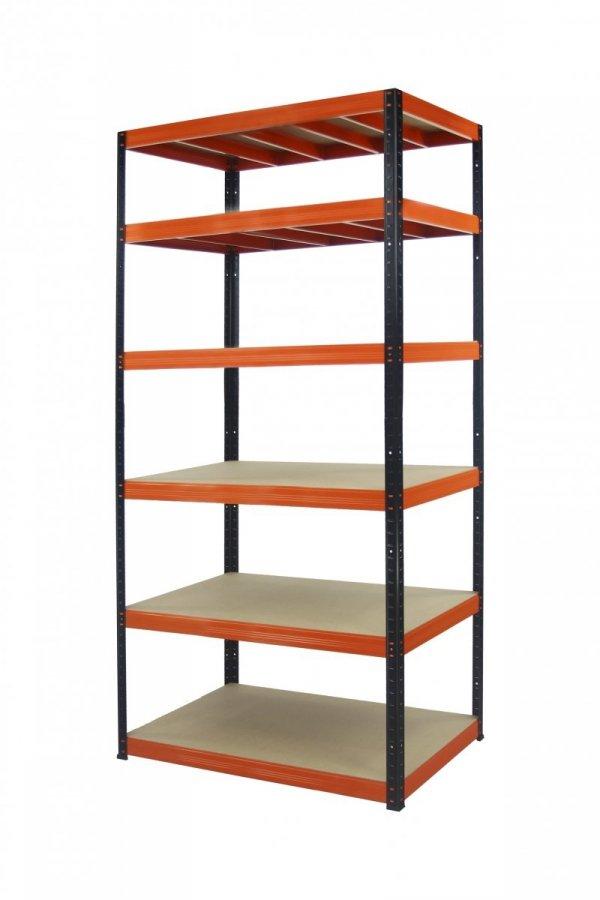Metallregal Werkstatt Schwerlastregal Helios 196x100x60_6 Böden, Tragkraft bis 400 Kg pro Boden,  Viele Farben zur Auswahl