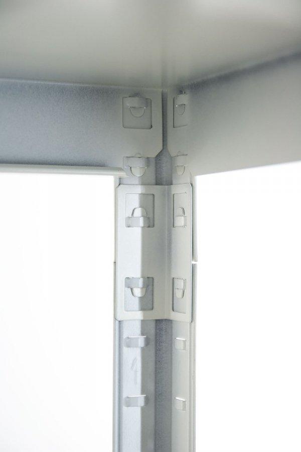 Metallregal ganz aus Metall Elara,  EW_180x100x40_5_120 pulverbeschichtet