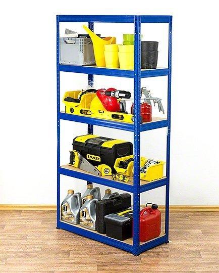 Metallregal Werkstatt Schwerlastregal Helios 180x110x40_5 Böden, Tragkraft bis 400 Kg pro Boden,  Viele Farben zur Auswahl