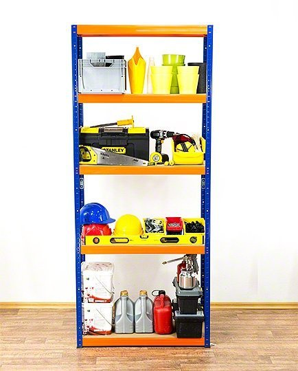 Metallregal Werkstatt Schwerlastregal Helios 196x120x45_5 Böden, Tragkraft bis 400 Kg pro Boden,  Viele Farben zur Auswahl