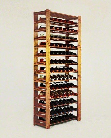 Weinregal für 91 Flaschen. Massiv RW-5-3 (80x30x174)
