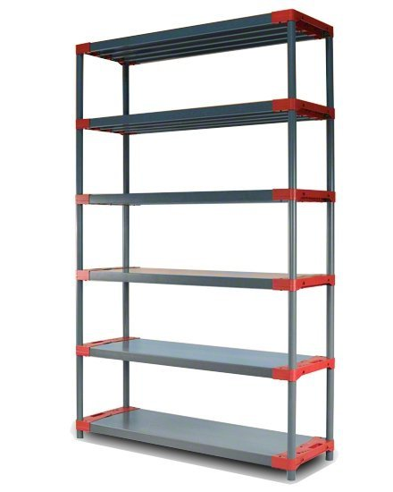 Plastikregal Kunststoffregal Steckregal  Tytan-5-140 (180x140x46), 5 Böden, 3 Farben