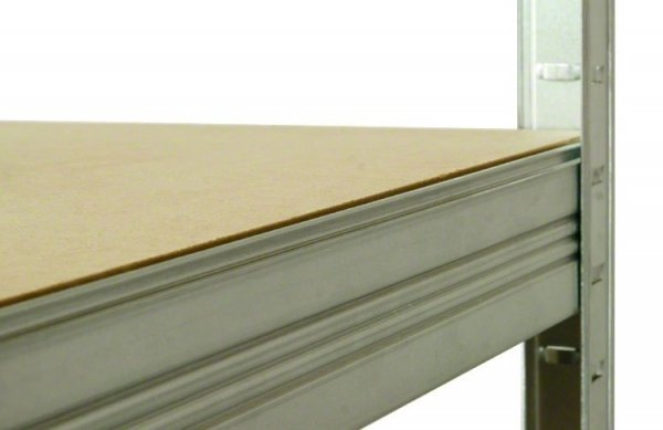 Metallregal Steck-Lager- Schwerlastregal bis 400 kg pro Boden , verzinkt , HZ_196x090x45, 5 Böden