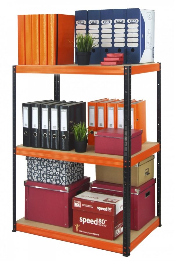 Metallregal Werkstatt Schwerlastregal Helios 106x100x60_3 Böden, Tragkraft bis 400 Kg pro Boden,  Viele Farben zur Auswahl