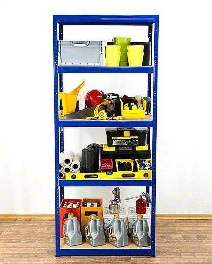 Metallregal Werkstatt Schwerlastregal Helios 196x100x60_5 Böden, Tragkraft bis 400 Kg pro Boden,  Viele Farben zur Auswahl