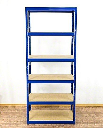 Metallregal Werkstatt Schwerlastregal Helios 213x075x45_6 Böden, Tragkraft bis 400 Kg pro Boden,  Viele Farben zur Auswahl