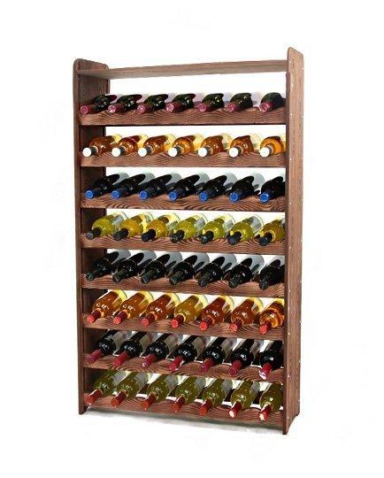 Weinregal Holz 56 Flaschen,  RW-16-56P (72,2x26,5x118,4), Dunkelgrau, Ecru, Dunkelgrau Decor, Dunkelbraun Decor