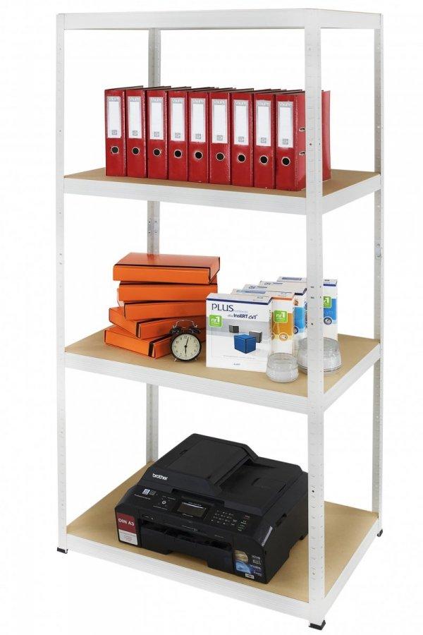 Metallregal Werkstatt Schwerlastregal Helios 180x120x45_4 Böden, Tragkraft bis 400 Kg pro Boden,  Viele Farben zur Auswahl