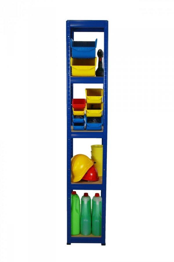 Metallregal Werkstatt Schwerlastregal Helios 196x050x50_5 Böden, Tragkraft bis 175 Kg pro Boden,  Viele Farben zur Auswahl, Quadratisch