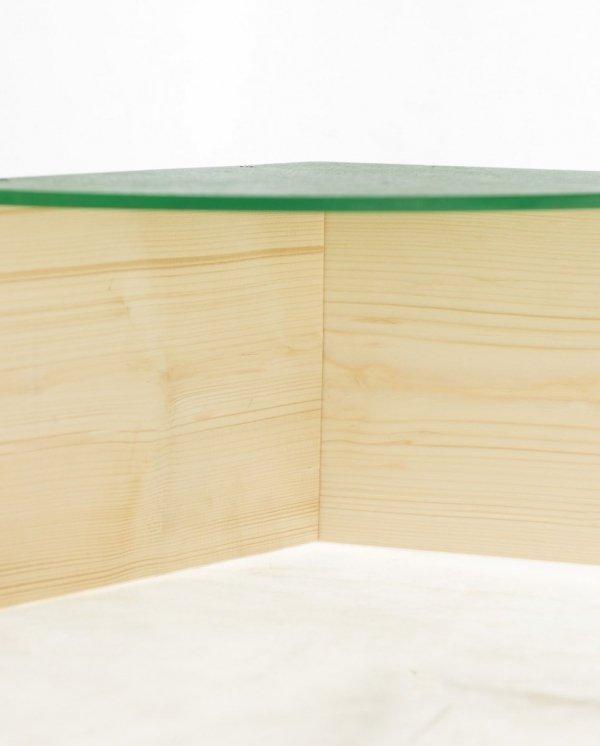 Sandkasten PAS-01 120x139 sechseckig  bunte Sitze