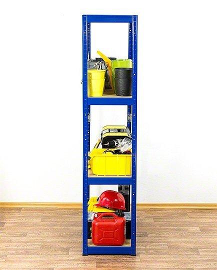 Metallregal Werkstatt Schwerlastregal Helios 180x090x60_4 Böden, Tragkraft bis 400 Kg pro Boden,  Viele Farben zur Auswahl