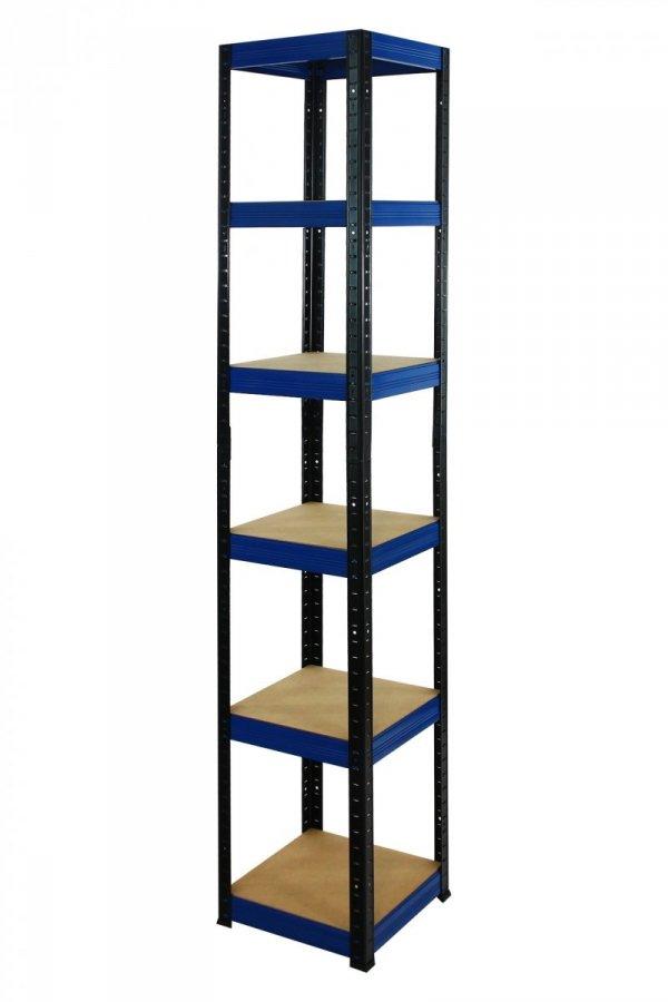 Metallregal Werkstatt Schwerlastregal Helios 196x050x50_6 Böden, Tragkraft bis 175 Kg pro Boden,  Viele Farben zur Auswahl, Quadratisch
