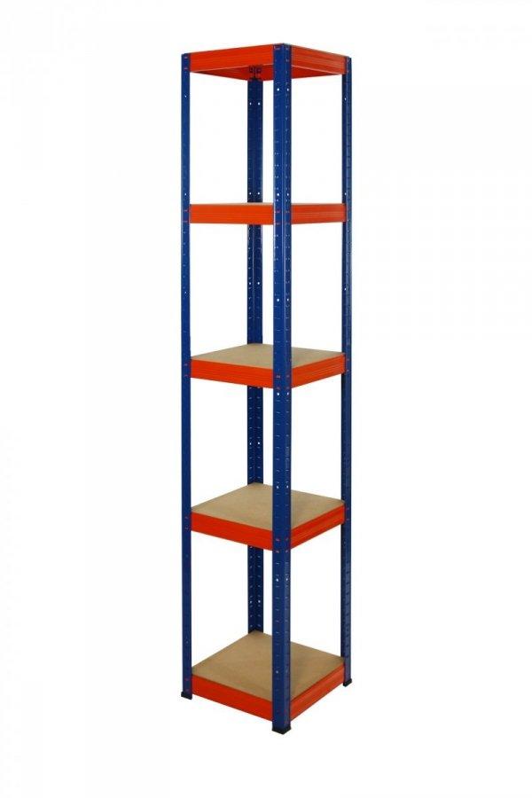 Metallregal Werkstatt Schwerlastregal Helios 180x040x40, 5 Böden, Tragkraft bis 175 Kg pro Boden,  Viele Farben zur Auswahl, Quadratisch