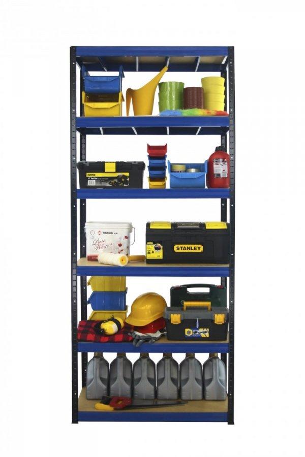 Metallregal Werkstatt Schwerlastregal  bunt farbig  Helios 196x075x40 6 Stabil