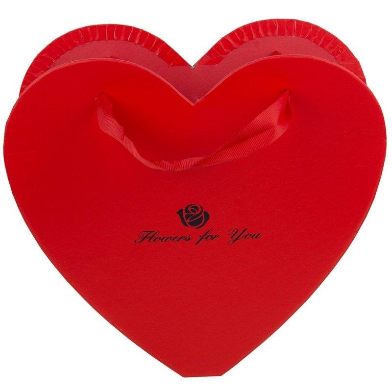 Pudełko Serce Czerwone Flowers For You Małe