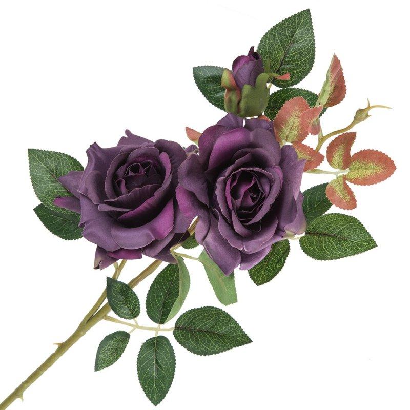 Gałązka Róża 2 Kwiaty I Pąk Fiolet