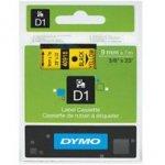 Dymo taśma do drukarek etykiet, D1 40918 | 9mm x 7m | czarny / żółty