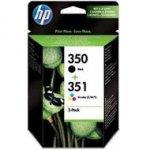Zestaw dwóch tuszy HP 350 i 351 do Deskjet D4260/4360, Officejet J5780 | CMY/K
