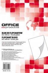 Blok do flipchartów OFFICE PRODUCTS, gładki, 65x100cm, 50 kart., biały