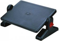 Podnóżek Q-CONNECT, z regulacją (x2), 450x310mm, czarny