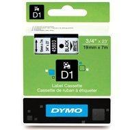 Dymo taśma do drukarek etykiet, D1 45803 | 19mm x 7m | czarny / biały