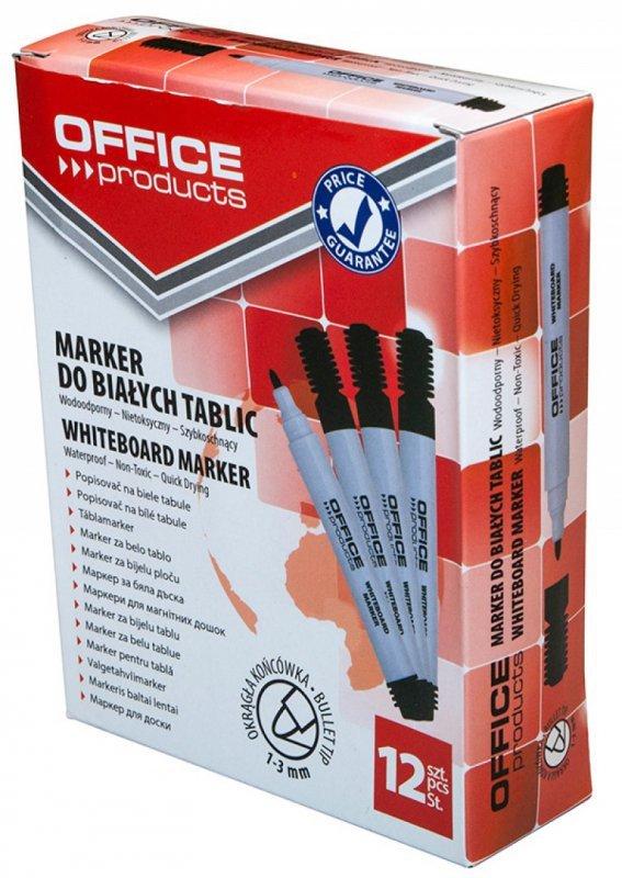 Marker do tablic OFFICE PRODUCTS, okrągły, 1-3mm (linia), czarny