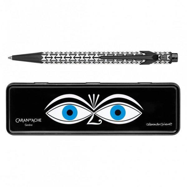 Długopis CARAN D'ACHE 849 Alexander Girard Black, M, w pudełku, czarny