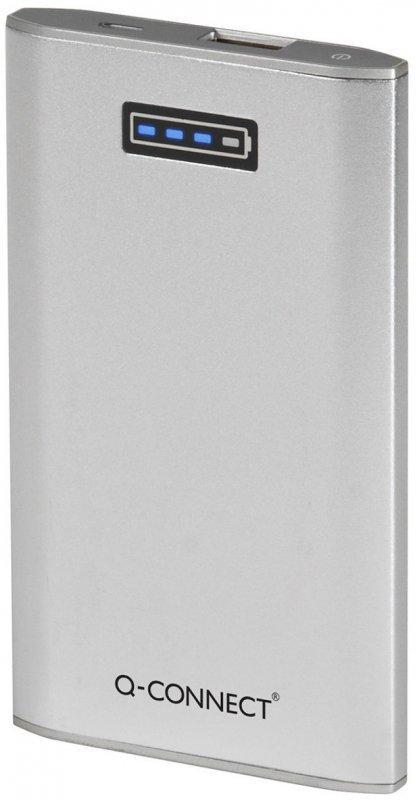 Powerbank, ładowarka przenośna Q-CONNECT, 5. 300 mAh, srebrna