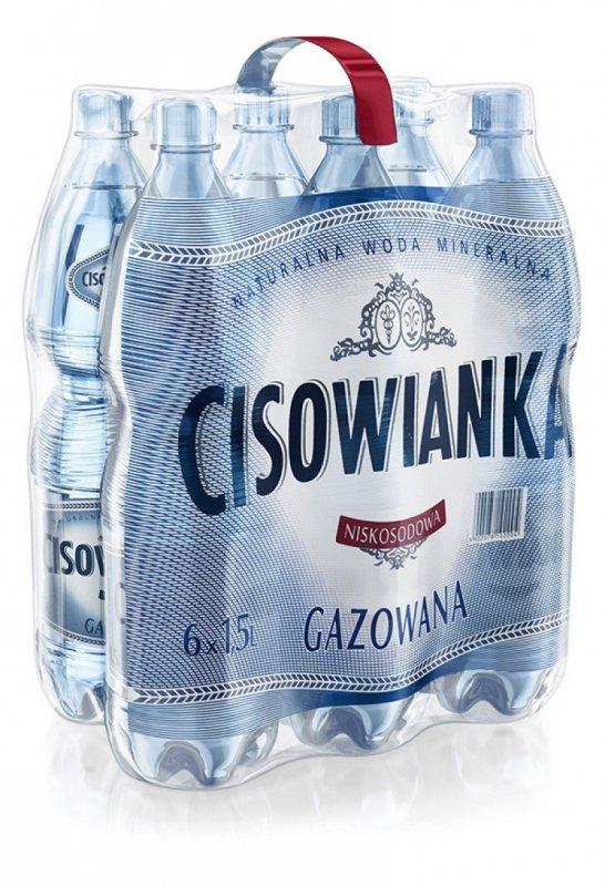 Woda CISOWIANKA, gazowana, butelka plastikowa, 1,5l