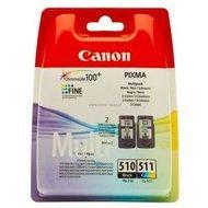 Zestaw dwóch tuszy Canon PG510/CL511 do MP-240/260/270/280/4<br />80/490 | CMYK